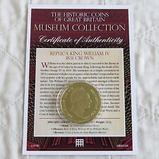 WILLIAM IV 1931 CROWN 24CT GOLD PLATED PROOF MUSEUM COLLECTION