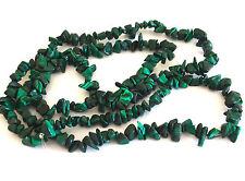 """36 """"piedras preciosas de Malaquita Chip cuentas 5-9mm Beads"""