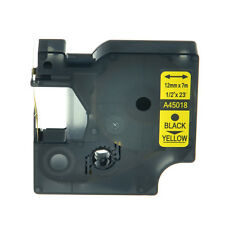 1PK Black on Yellow Label Tape For Dymo D1 45018 LabelPoint 100 150 200 250 300