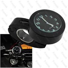 """Montre Horloge de Guidon Universelle Pour Moto 22mm - 28mm Noir 7/8"""" 1"""""""