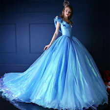 2015 Movies Original Sandy Princess Blue Party Dresses Cosplay Costume Adult Cos