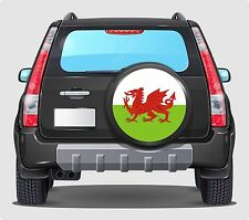 Spare Wheel Cover 4x4 Graphic Sticker WELSH FLAG  WALES 550MM SIX NATIONS