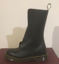 DR. MARTENS 1914 BLACK 14 EYELET MADE IN UK    LEATHER  BOOTS SIZE UK 5