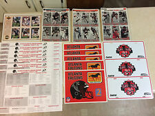 Atlanta Falcons Memorabilia....RARE...1990-1999...Car Tag, Cards, Posters, MORE