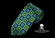 Lord R Colton Masterworks Tie Plug In Baby Sapphire Lime XL Necktie $195 New