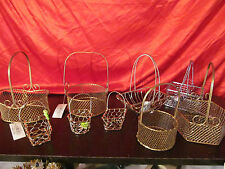9 Small Wired Baskets with Handles