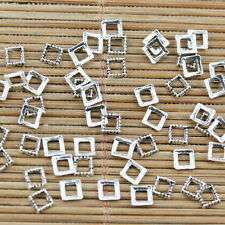 800pcs tibetan silver color squared shaped spacer frame charms EF2321
