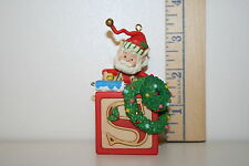Enesco Ornament - Snitch - Wee Tree Trimmers - Elf with Block - 1990
