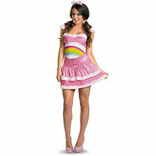 NEW! CHEER BEAR L 12-14 Sexy SASSY Adult Women's Disguise Pink Care Bear Costume