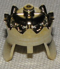 LEGO CASTLE CHROME GOLD KING'S CROWN HELMET KINGDOMS PIECE