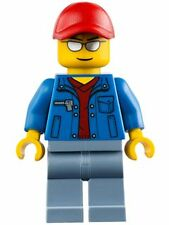 Lego Truck Driver Minifigure Blue Jacket V-Neck Sweater 60060 Town City