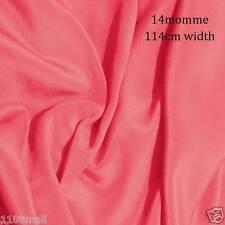 #18 géranium rose  14 momme Tissu en Crêpe de Pure Soie de Chine 114cm L