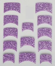 Nail Art Decal Stickers Purple Glitter Nail Tips