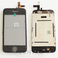 VETRO TOUCH SCREEN + LCD DISPLAY + FRAME COMPLETO PER APPLE IPHONE 3GS NERO