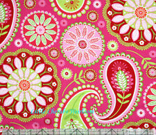 Michael Miller Gypsy Paisley Pink Fabric