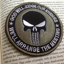 GOD WILL JUDGE OUR ENEMIES USA PUNISHER INFIDEL MORALE Hook  & Loop PATC