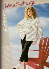 MISS SELFRIDGES JC PENNEY Department Store ADVERTISEMENT AD VINTAGE VTG 1987 80s