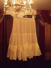 "Vintage Petticoat~Ivory Soft Netted Material~22""L~ Melodie Lane M~24""-38"" Waist"
