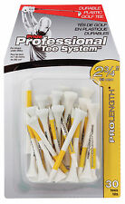 """Pride PTS Plastic Golf Tees - 2 3/4"""" (30 Count) - White/Yellow"""