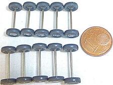 10 Achsen m Rädern 18mm 8mmø Wiking 1:87 PKW silberne Radkappe 70er Jahre #GC3 å