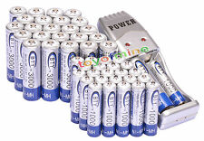 24x AA +24x AAA 1000mAh 3000mAh 1.2V NI-MH BTY batería recargable +USB cargador