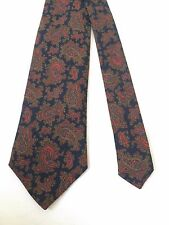NWT $70 Vintage Brooks Brothers Brown Paisley Geo Neck Tie