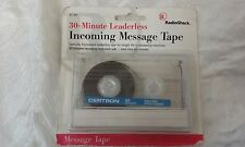 RADIO SHACK 30-MINUTE EACH SIDE INCOMING MESSAGE TAPE ANSWERING MACHINE 43-410