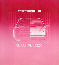 Porsche 911 1979-80 UK Market Sales Brochure SC 3.0 Coupe Targa 3.3 Turbo