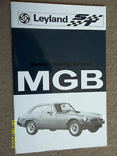 MG MGB TOURER & GT 1800cc 1976 OWNERS SPECIAL TUNING TUNE HANDBOOK MANUAL GUIDE