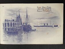 Red Star Line Antwerpen C.1906 Postcard NY. Boston, Phil. Artist Signed
