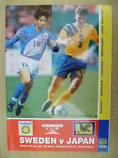 1995 Umbro Cup/Int'l Challenge Tournam- SWEDEN v JAPAN (Official Souvenir Progr)