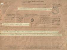Telegramma Fascista Partenza Vecchia Guardia Ravennate per l'Africa Orientale