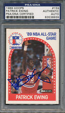 1989/90 Hoops #159 Patrick Ewing PSA/DNA Certified Authentic Auto *8939