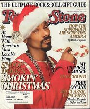 Rolling Stone December 14 2006 Snoop Dogg, My Chemical Romance w/ML 082516DBE