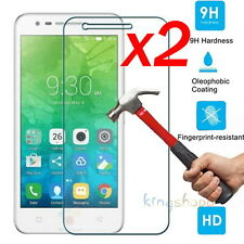 2Pc 9H HD Premium Tempered Glass Screen Protector Film Guard For Lenovo Vibe C2