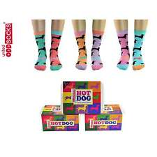 Hot Dog Six Ladies Odd Socks by United Oddsocks (UK 4-8)
