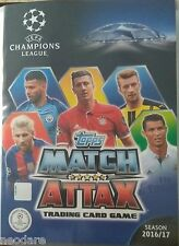 TOPPS MATCH ATTAX CHAMPIONS LEAGUE 2017 FULL COLLECTION 436 CARDS + ALBUM