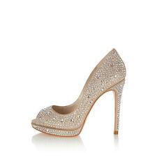 Karen Millen Champagne Limited Edition Heels Crystal Embellishment FQ920 Size 37