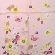 Salvatore Ferragamo silk pink butterfly scarf NEW collection fg 60