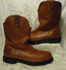 Dickies Leather Steel Toe Boots Work COWBOY Western ROPER Riding Sz 11 M