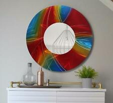 Modern Metal Wall Art Sculpture, Round Prismatic Abstract Mirror - Jon Allen