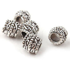 Silver Charms Beads Oxidised Fashion Jewellery Fit European Bracelet 2 pieces
