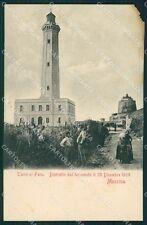 Messina Torre di Faro Terremoto 1908 ANGOLINO STRAPPATO cartolina XB0205