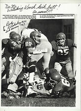 RUDY KUECHENBERG 8 1/2 X 11 BLACK AND WHITE PHOTO INDIANA HOOSIERS AUTOGRAPHED
