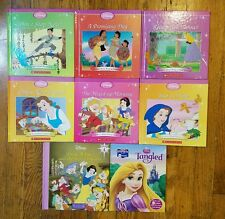 8 Book Lot Disney Princess Beauty&the Beast Tangled Pocahontas Snow White Mulan