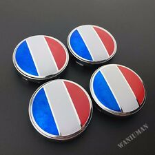 4x France Flag Car Wheel Center Hub Caps Badge Emblem Sticker For Peugeot 60mm