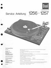 Dual Service Manual für Phono 1256 / 1257