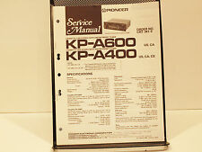 Pioneer KP-A600, KP-A400 Cassette Car Stereo Service Manual OEM Original