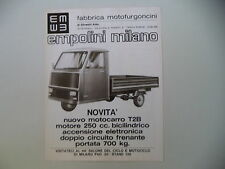 advertising Pubblicità 1975 MOTOCARRO MOTO CARRO EMPOLINI T2B