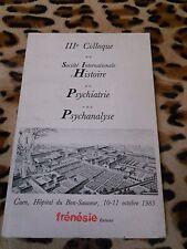 3e colloque Société internationale histoire de la psychiatrie et psychanalyse